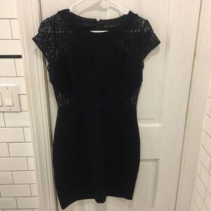 Zara little black dress with lace
